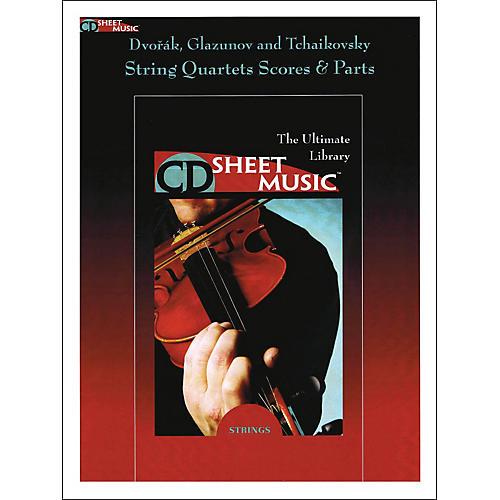 Hal Leonard Dvorak Glazunov And Tchaikovsky String Quartets Score And Parts CD Sheet Music-thumbnail