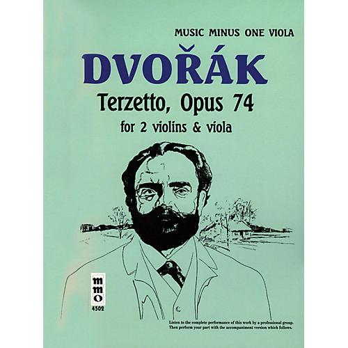 Music Minus One Dvorák - Terzetto in C Major, Op. 74 (Music Minus One Viola) Music Minus One Series Softcover with CD