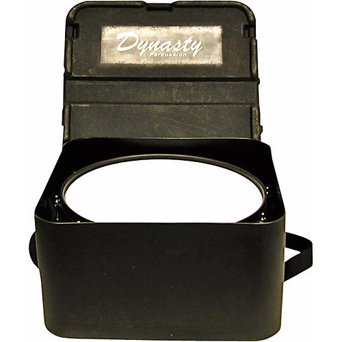 DEG Dynasty Marching Snare drum case, square, black molded for concert or Wedge snare Black Molded 14 in. Short