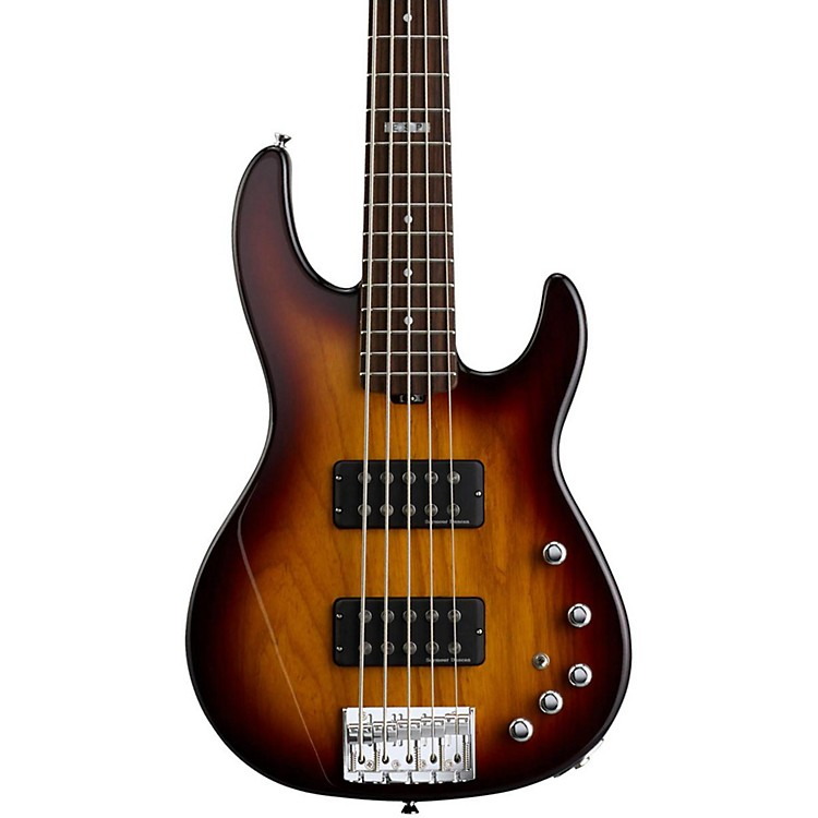 ESPE-II AP-5 5 String Electric Bass GuitarTobacco Sunburst