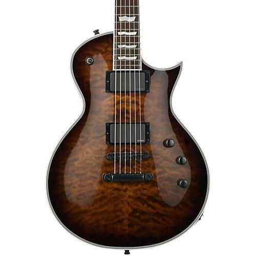 ESP E-II Eclipse Electric Guitar Dark Brown Sunburst Quilted Maple