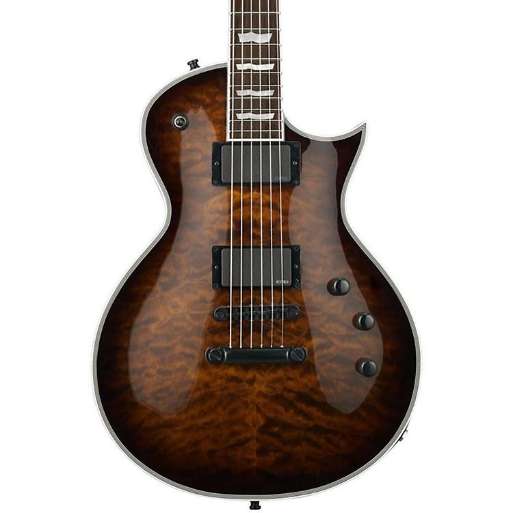 ESPE-II Eclipse Electric GuitarDark Brown SunburstQuilted Maple