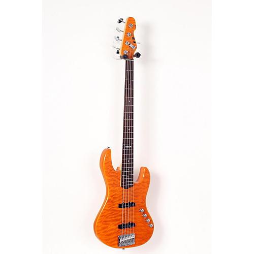 ESP E-II J-5 5 String Electric Bass Guitar Amber 888365629353