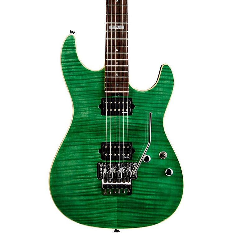 ESP E-II ST-2 Electric Guitar with Rosewood Fretboard Emerald Green