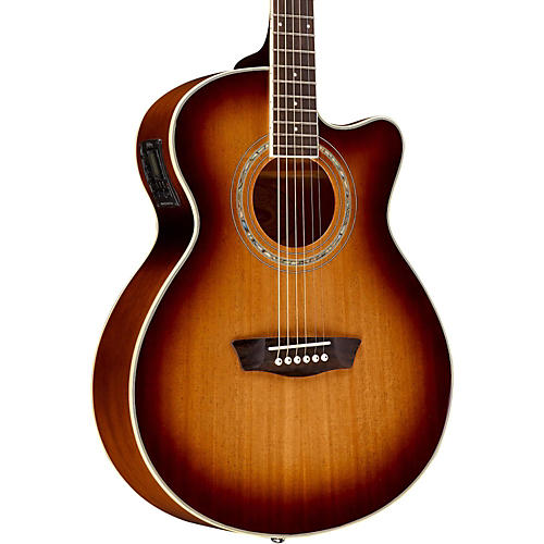 Washburn EA14MTEB Mini Jumbo Mahogany Acoustic-Electric Guitar