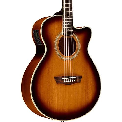 Washburn EA14SMTEB Mini Jumbo Mahogany Solid Top Acoustic-Electric Guitar
