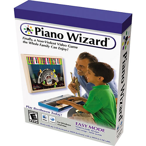 Piano Wizard EASY MODE Video Game Software Package