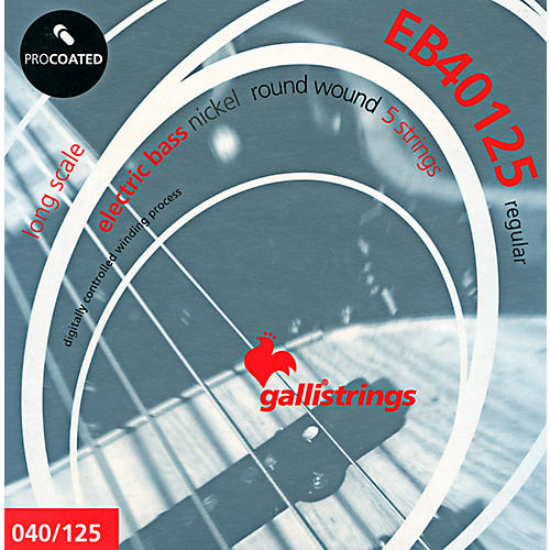 Galli Strings EB40125 PROCOATED 5-String Regular Bass Strings 40-125