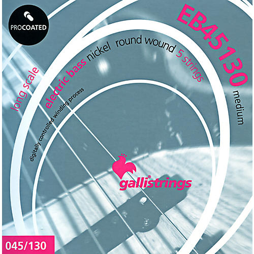 Galli Strings EB45130 PROCOATED 5-String Medium Bass Strings 45-130