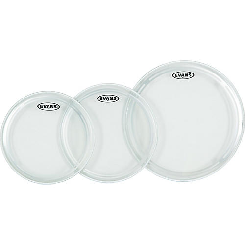 Evans EC1 Clear Fusion Drumhead Pack