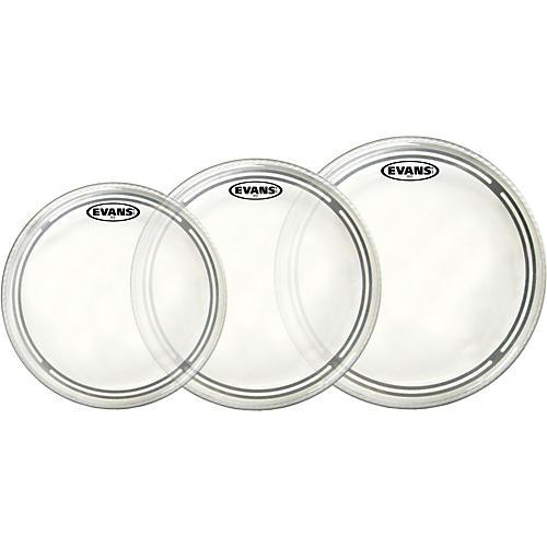 Evans EC2 Clear 10/12/14 Fusion Drum Head Pack
