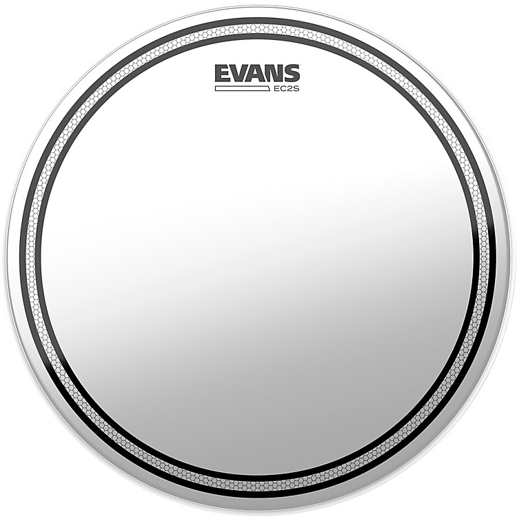 EvansEC2S Frosted Drumhead6 Inch