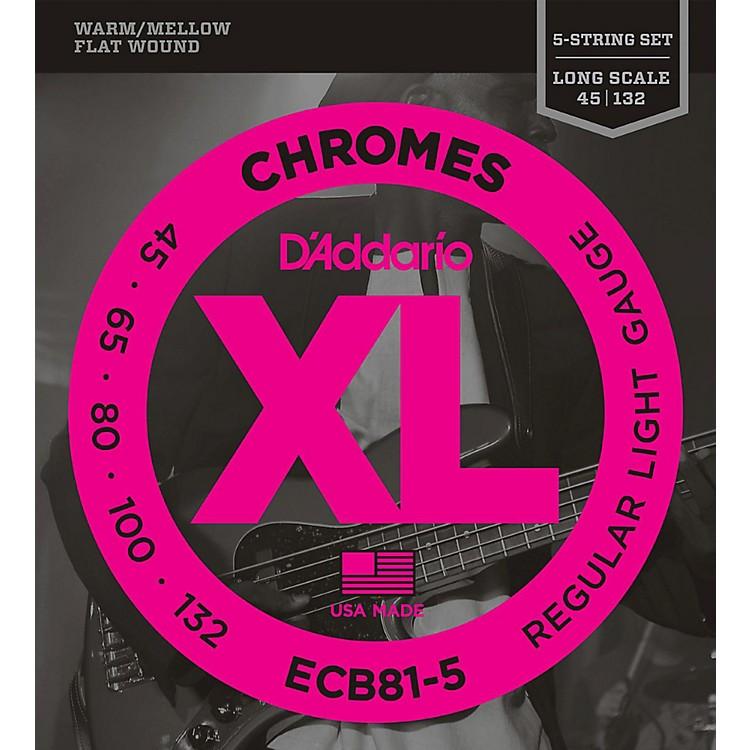 D'AddarioECB81-5 Chromes XL Flatwound Bass Strings - Light Gauge