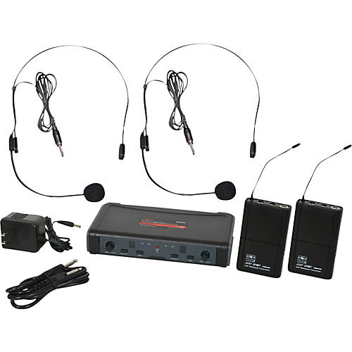 Galaxy Audio ECD Dual Channel UHF Wireless System with Dual Headset Microphones