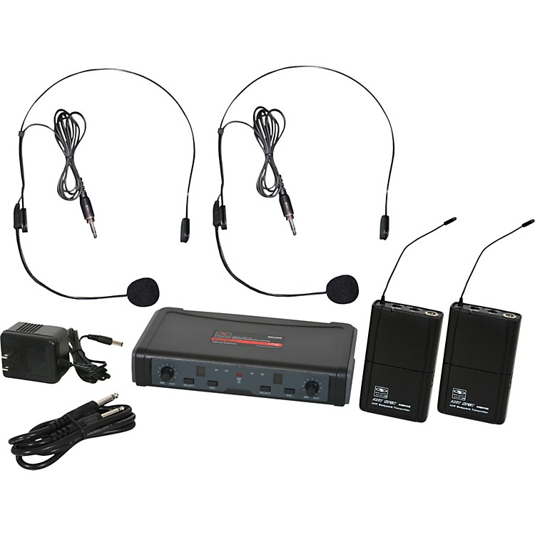 Galaxy AudioECD Dual Channel UHF Wireless System with Dual Headset Microphones