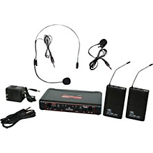 Galaxy Audio EDXR/38SV Dual-Channel Wireless Headset and Lavalier System Band D Black