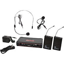 Galaxy Audio EDXR/38SV Dual-Channel Wireless Headset and Lavalier System Band N Black