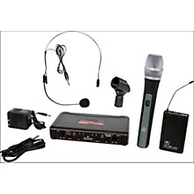 Galaxy Audio EDXR/HHBPS Dual-Channel Wireless Handheld and Headset System Band D Black