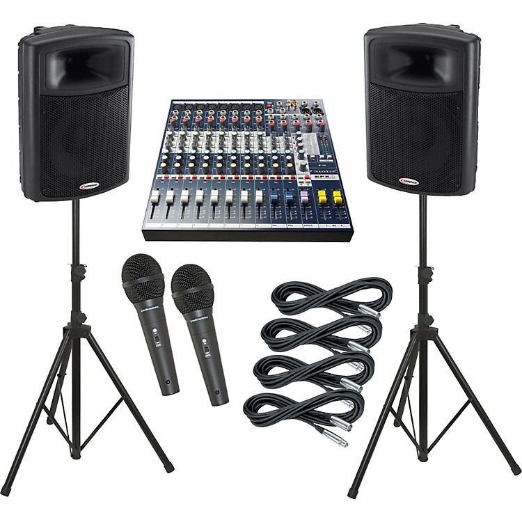 Soundcraft EFX8 / Harbinger APS15 PA Package