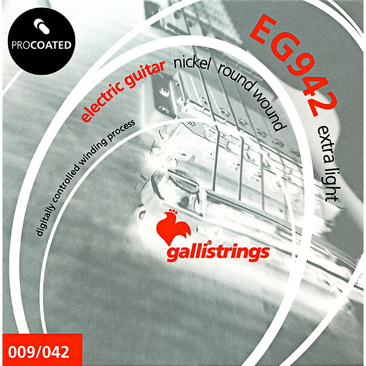 Galli StringsEG0942 PROCOATED Extra Light Electric Guitar Strings 9-42