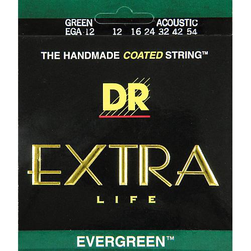 DR Strings EGA-12 Evergreen Coated Medium Acoustic Guitar Strings