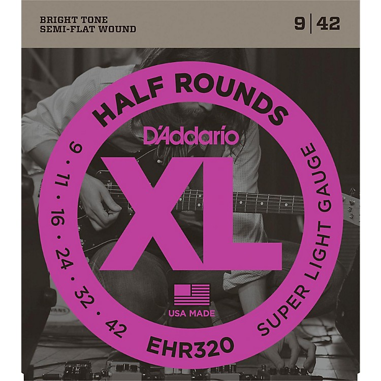 D'AddarioEHR320 Half Round Super Light Electric Guitar Strings