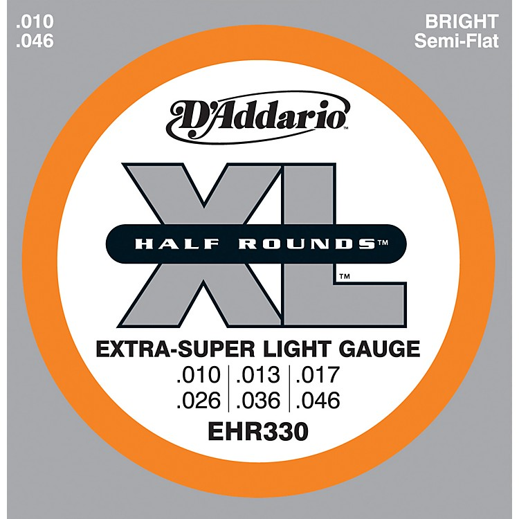 D'Addario EHR330 Half Round Extra Super Light Electric Guitar Strings