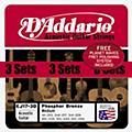 D'Addario EJ17 Phosphor Bronze Light Acoustic Guitar Strings 3 Pack w/Fret Polish Paper-thumbnail