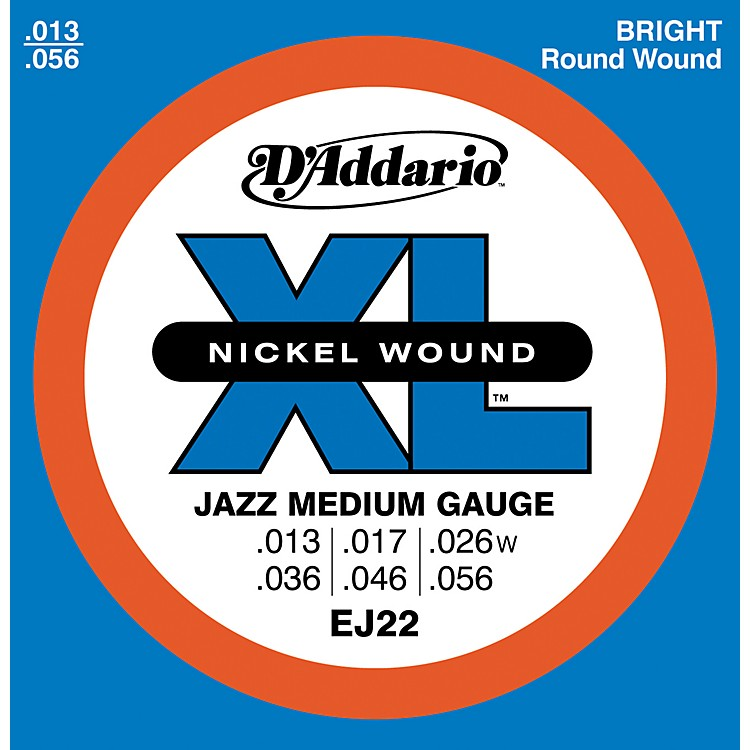 d 39 addario ej22 nickel jazz medium electric guitar strings musician 39 s friend. Black Bedroom Furniture Sets. Home Design Ideas