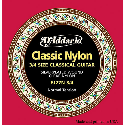 D'Addario EJ27 Nylon Classical Guitar Strings - 3/4 Size
