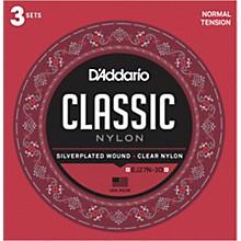 D'Addario EJ27N-3D Normal Tension Classical Guitar Strings 3-Pack