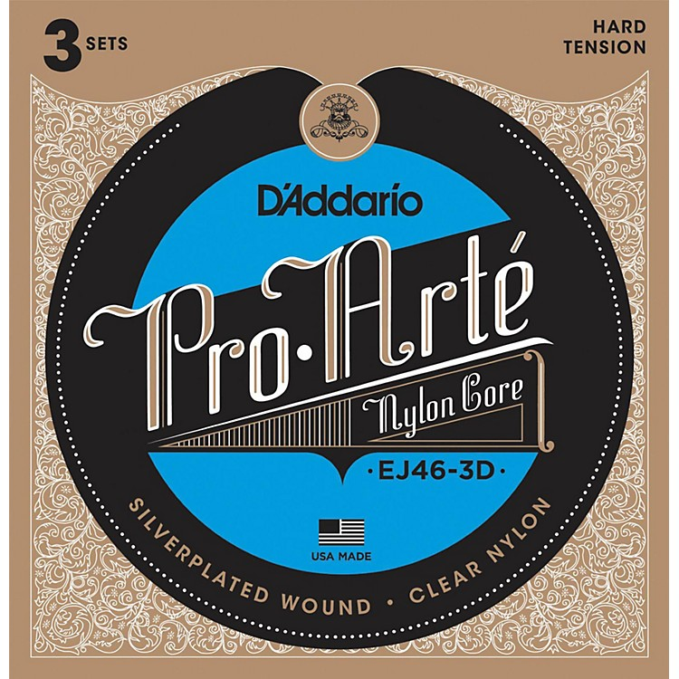 D'Addario EJ46 Pro-Arte Classical Guitar Strings 3-Pack