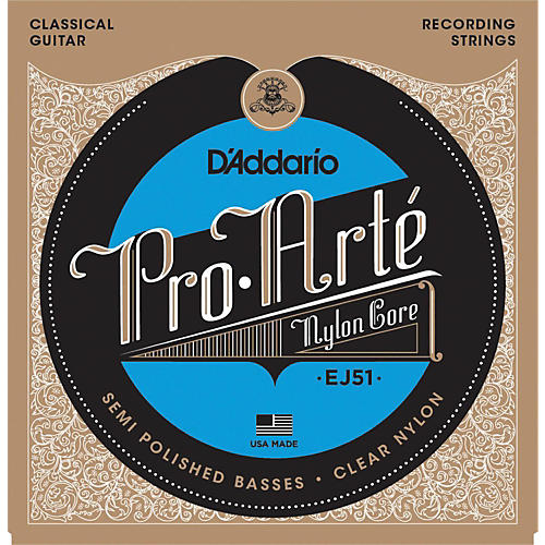 D'Addario EJ51 Pro-Arte Semi Polished Basses Hard Tension Classical Guitar Strings