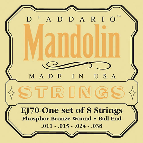 D'Addario EJ70 Phosphor Bronze Ball End Mandolin Strings