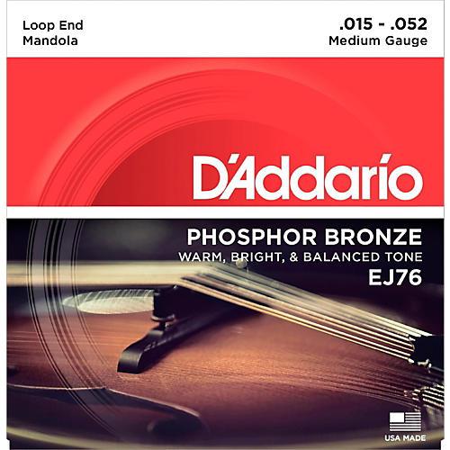D'Addario EJ76 Phosphor Bronze Medium Mandola Strings (15-52)