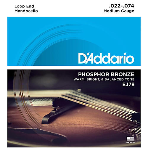 D'Addario EJ78 Phosphor Bronze Mandocello Strings (22-74)-thumbnail