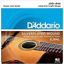 D'Addario EJ84L Gypsy Jazz Silver Wound Loop End Light Guitar Strings