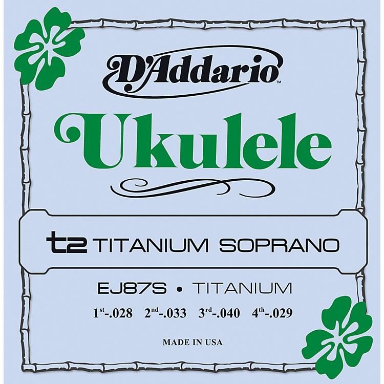 D'AddarioEJ87S Titanium Sopranto Ukulele Strings