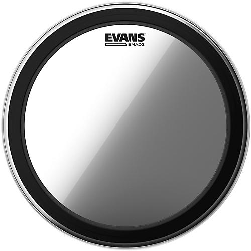 Evans EMAD 2 Clear Batter Bass Drum Head  22 in.