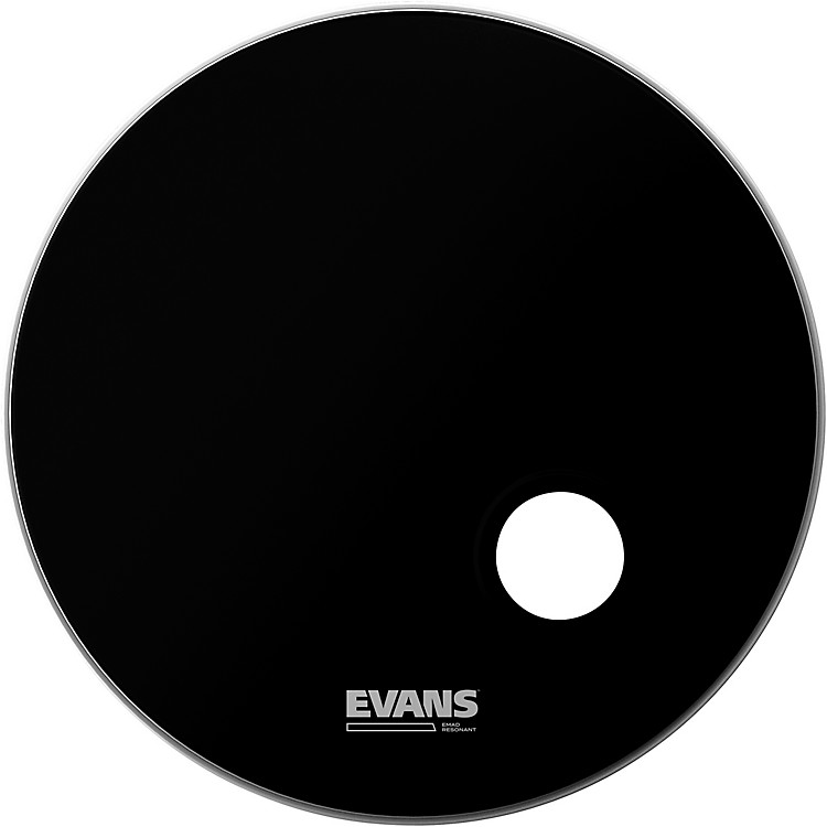Evans EMAD Resonant Bass Drumhead Black 18 Inches