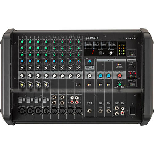 Yamaha EMX5 12-Input Powered Mixer with Dual 630-Watt Amp-thumbnail