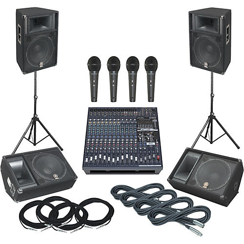 Yamaha EMX5016CF / S115V / SM15V PA System with Monitors