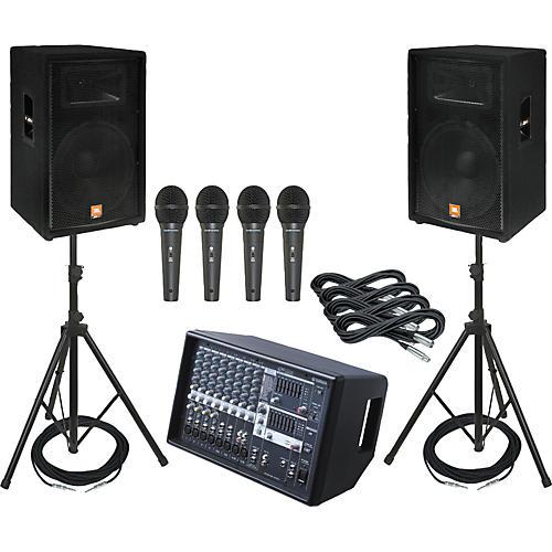 Yamaha EMX512SC / JBL JRX115 PA Package with AKG D8000 Mics