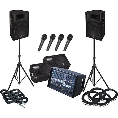 Yamaha EMX512SC / S115V PA Package with Monitors
