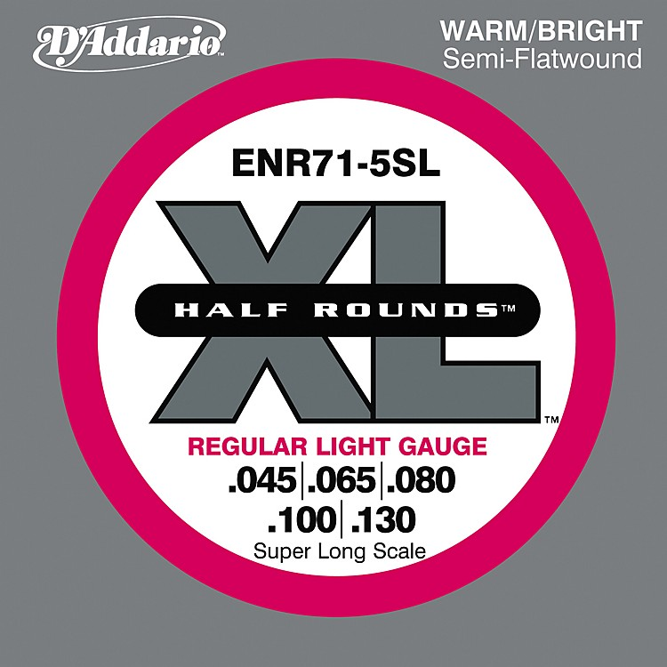 D'Addario ENR71-5SL Half Rounds Super Long Scale Light 5-String Bass Strings