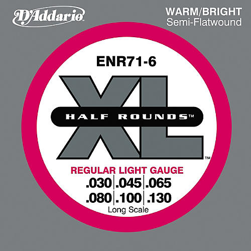 D'Addario ENR71-6 Half Rounds Light 6-String Bass Strings-thumbnail