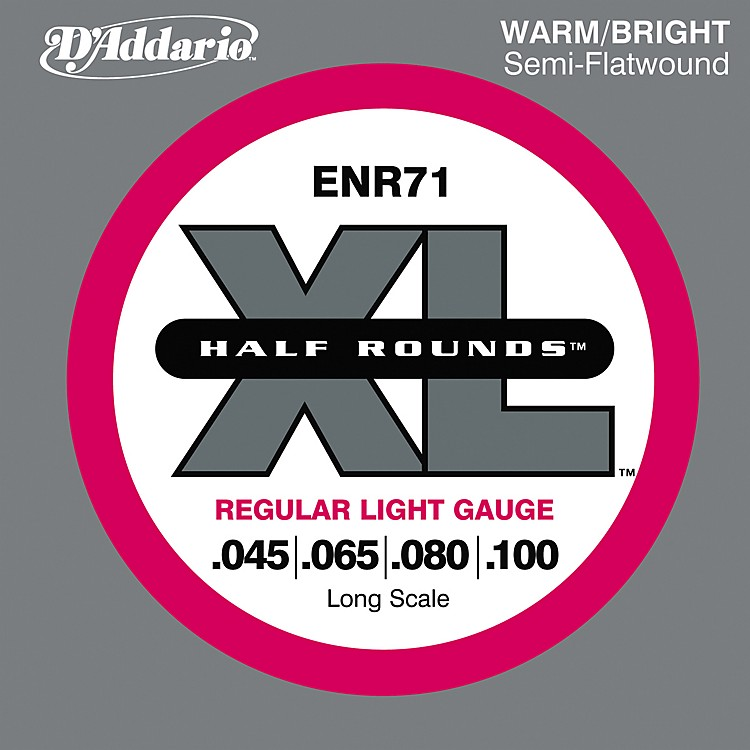 D'Addario ENR71 Half Rounds Light Bass Strings