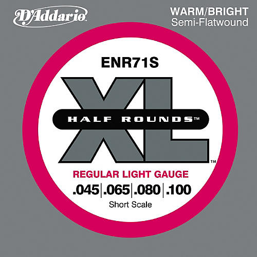 D'Addario ENR71S Half Rounds Light Bass Strings-thumbnail