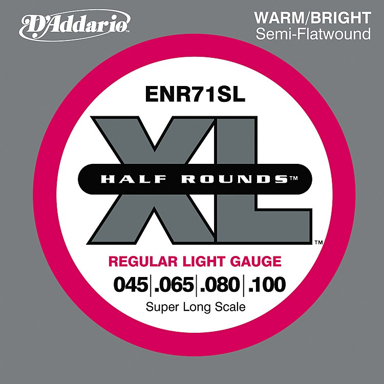 D'Addario ENR71SL Half Rounds Light Bass Strings