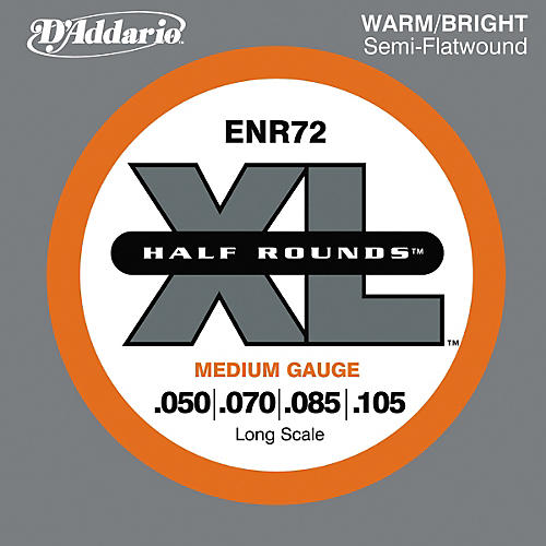 D'Addario ENR72 Half Rounds Medium Bass Strings
